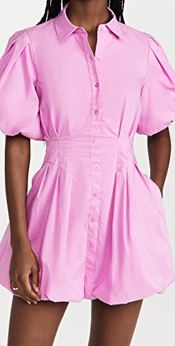 Jonathan Simkhai - Cleo Pleated Poplin Mini Dress