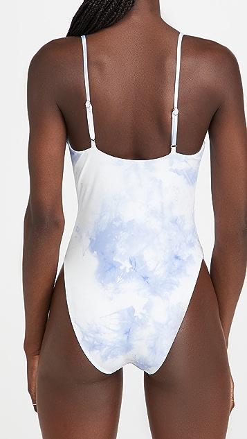 Jonathan Simkhai Ingrid Tie Dye Printed Swimsuit