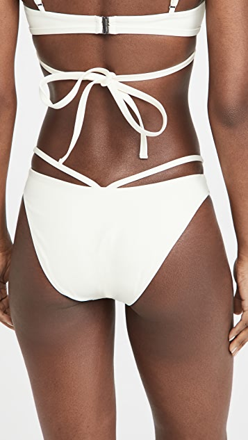 Jonathan Simkhai Emmalynn Solid Strappy Bikini Bottoms