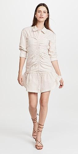 Jonathan Simkhai - Delanie Stripe Cotton Mini Dress