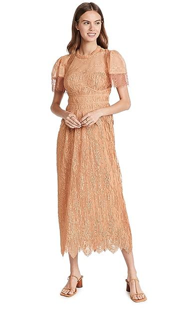 Jonathan Simkhai Violetta Flutter Sleeve  Dress