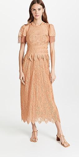 Jonathan Simkhai - Violetta Flutter Sleeve  Dress