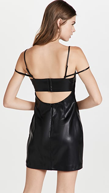 Jonathan Simkhai Jeslyn Vegan Leather Bandeau Mini Dress