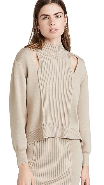 Jonathan Simkhai Yvette Recycled Turtleneck Sweater