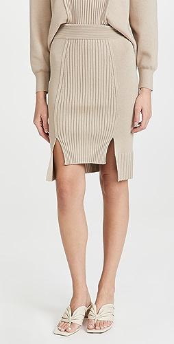 Jonathan Simkhai - Martha Recycled Knitwear High Low Skirt