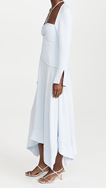Jonathan Simkhai Haven Halter Midi Dress