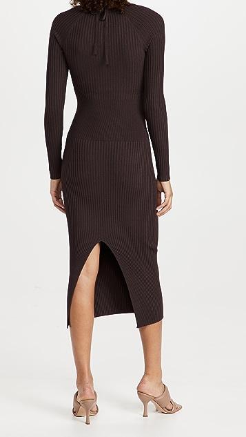 Jonathan Simkhai Liza Scoop Neck Midi Dress
