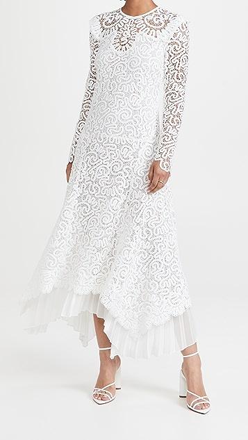 Jonathan Simkhai Corrie Handkerchief Midi Dress