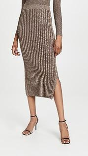 Jonathan Simkhai Ashton Midi Skirt w/ Plackets