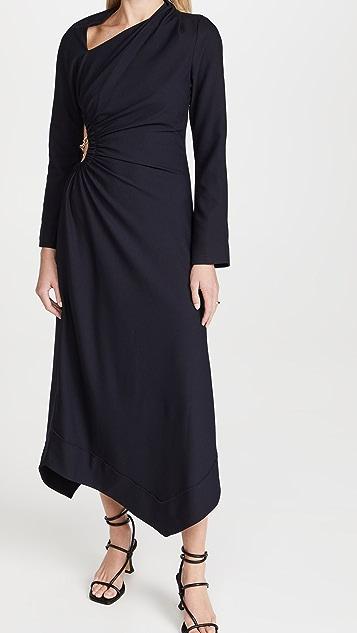 Jonathan Simkhai Christie Draped Neck Cutout Dress