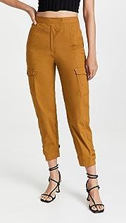 Jonathan Simkhai Heidi Cargo Tapered Crop Pants