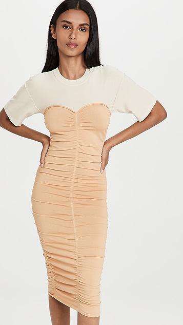 Jonathan Simkhai Charleigh Ruched Front Tee Dress