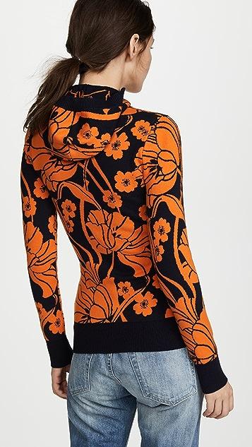 JoosTricot Floral Knit Hoodie