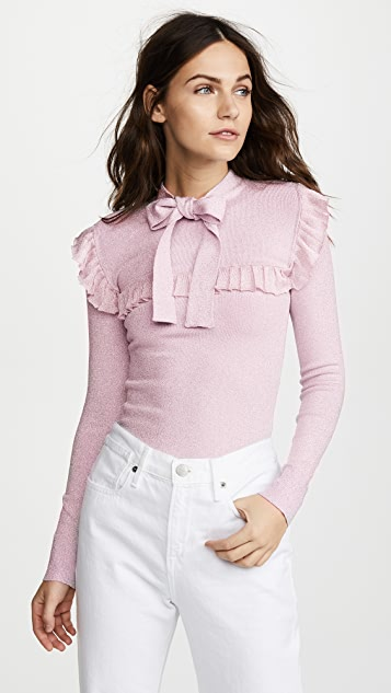 JoosTricot Long Sleeve Ruffle Top