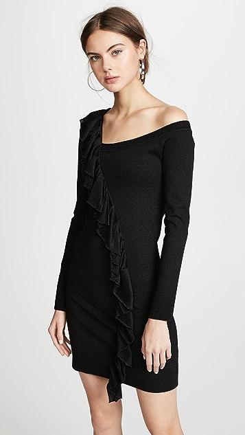 JoosTricot One Shoulder Metallic Dress