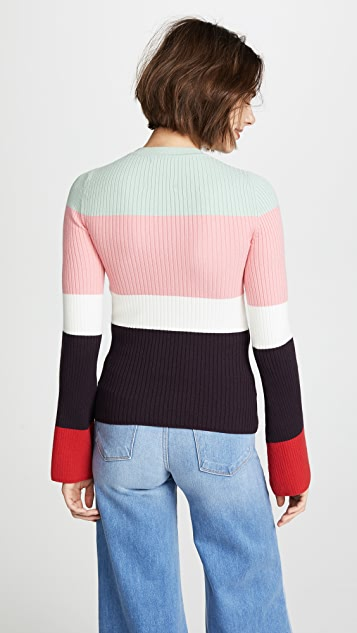 JoosTricot Colorblock Rib Sweater