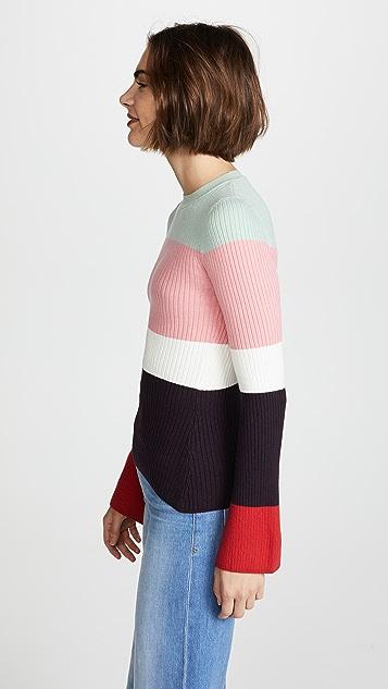 JoosTricot Colorblock Rib Sweater
