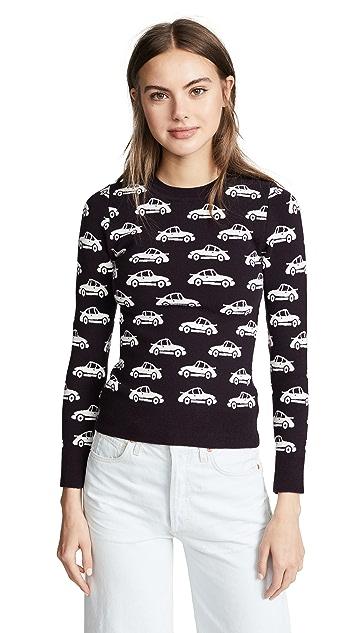 JoosTricot Crew Neck Car Print Sweater