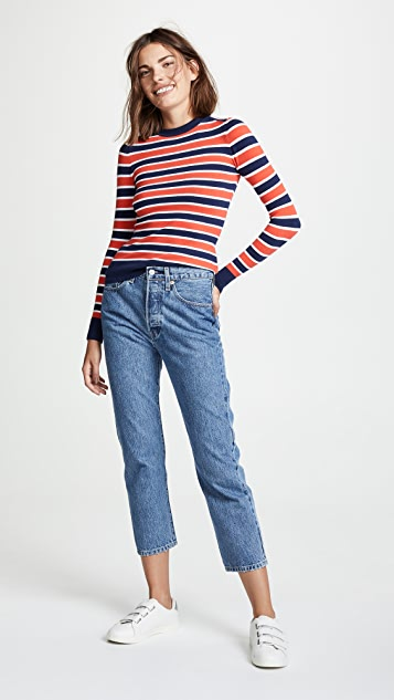 JoosTricot Striped Crew Neck Sweater