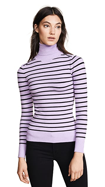 JoosTricot Striped Turtleneck Sweater