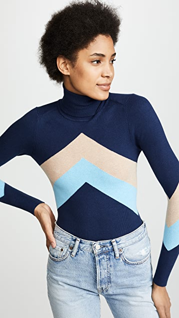 JoosTricot Chevron Turtleneck Sweater