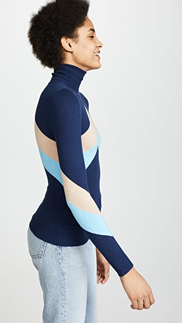 JoosTricot Chevron Turtleneck Sweater