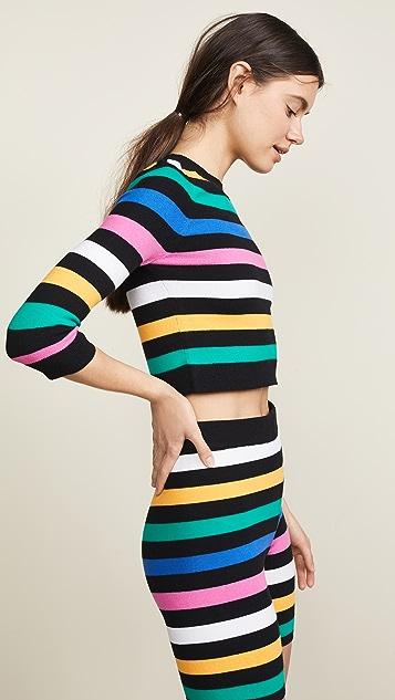 JoosTricot 3/4 Sleeve Crop Top Sweater
