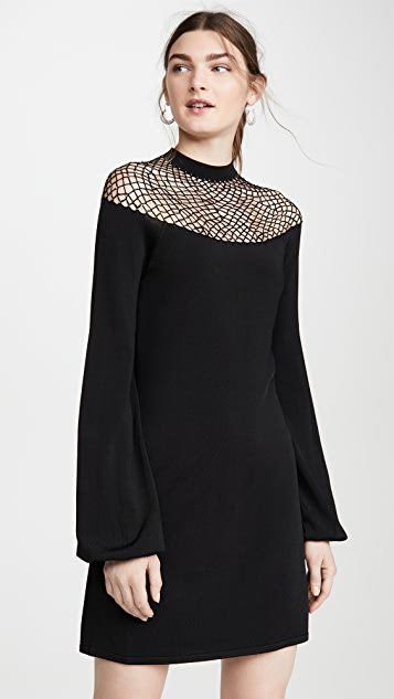 JoosTricot Fishnet Dress with Swarovski Crystals