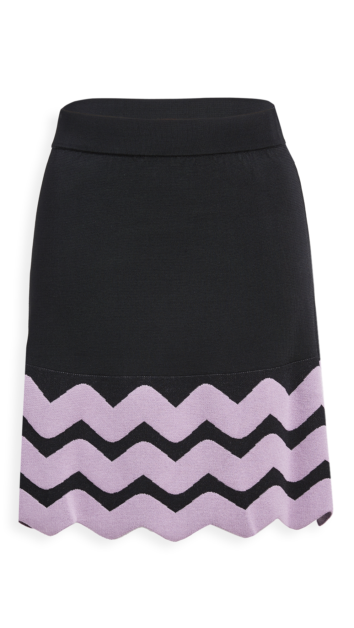 JoosTricot Keyhole Miniskirt with Ribbon Edge Hem