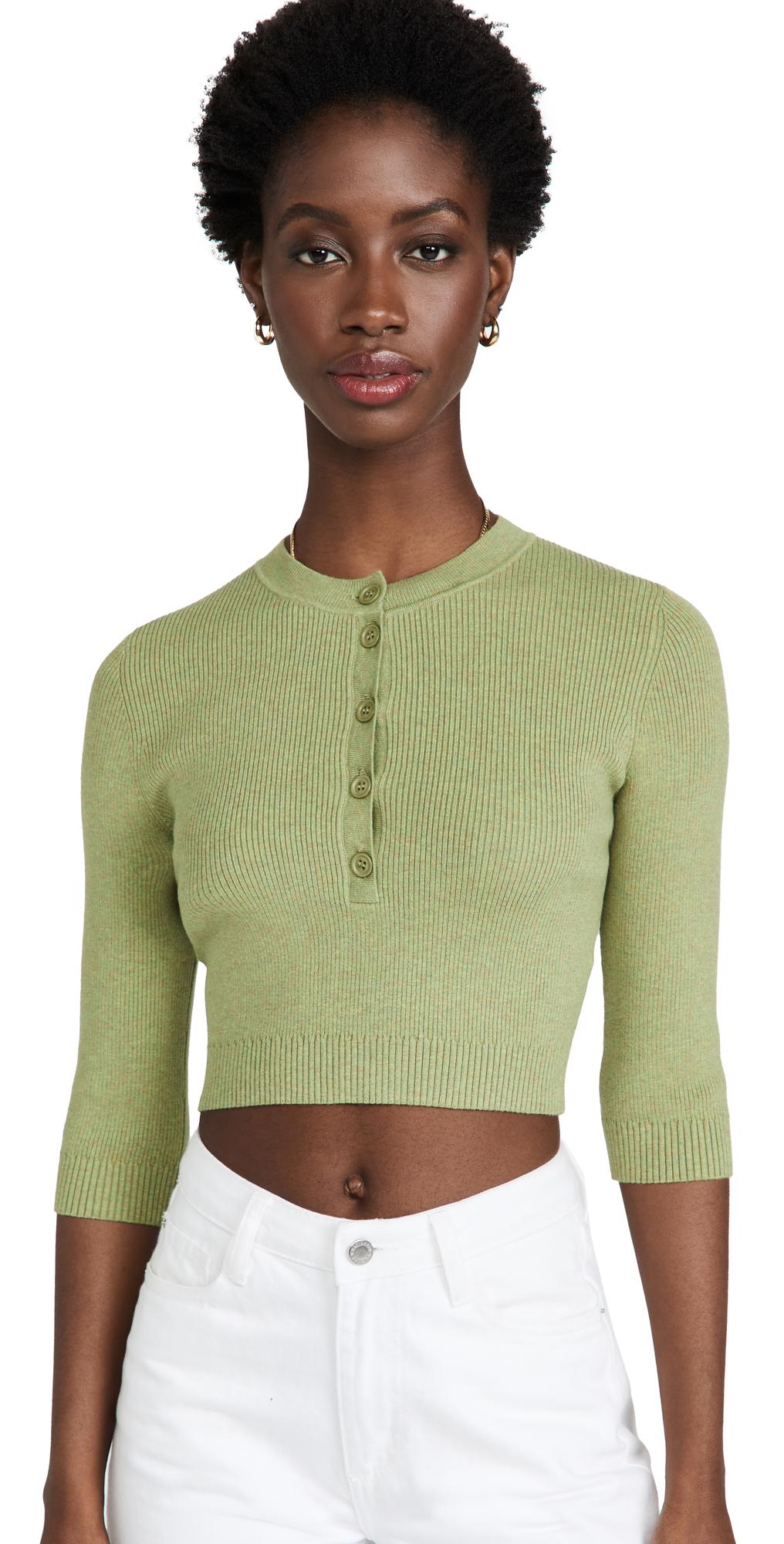 3/4 Sleeve Crop Top