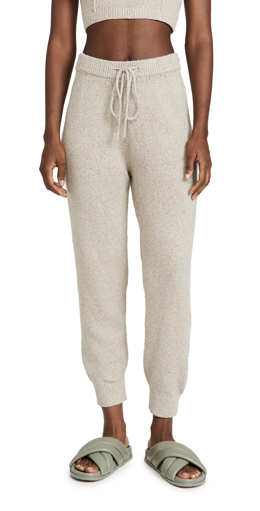 Speckled Linen Joggers