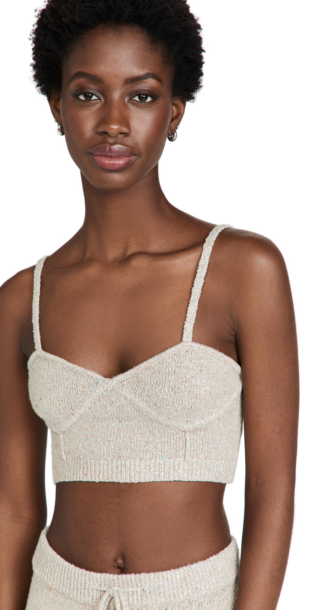 Speckled Linen Bralette Top