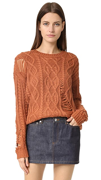 J.O.A. Amber Cable Sweater