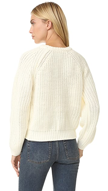 J.O.A. Lace Up Side Sweater