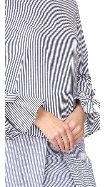 J.O.A. Flare Sleeve Blouse