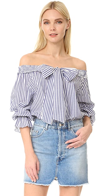 b7611f76089 J.O.A. Stripe Off Shoulder Blouse | SHOPBOP
