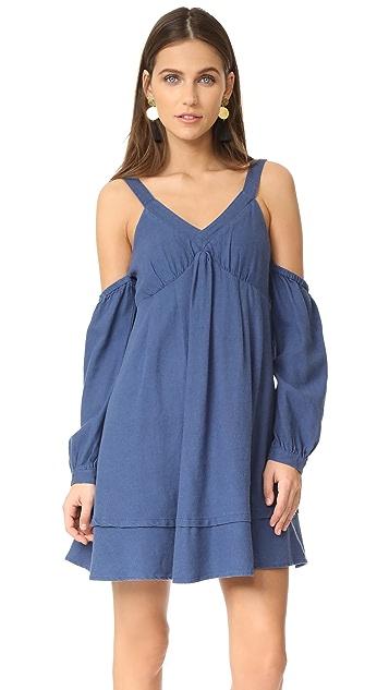J.O.A. Cold Shoulder Flare Dress