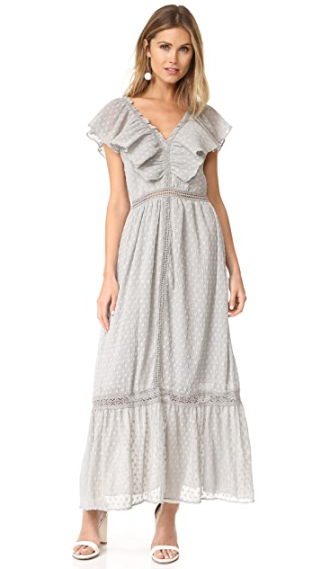 J.O.A. Swiss Dot Maxi Dress