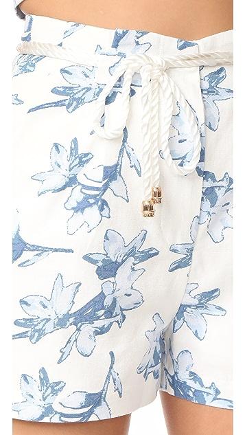 J.O.A. Flower Print Shorts