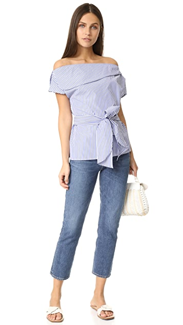 J.O.A. Off The Shoulder Stripe Tunic