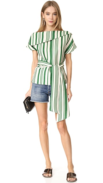 J.O.A. Off Shoulder Stripe Tunic