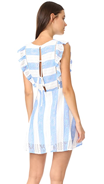 J.O.A. Frill Sleeve Dress