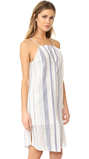 J.O.A. Stripe Button Down Sheath Dress
