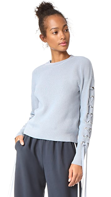 J.O.A. Tie Sleeve Sweater