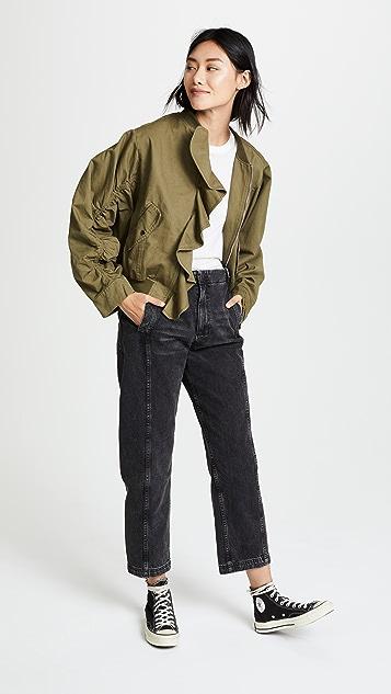 J.O.A. Ruffle Bomber Jacket