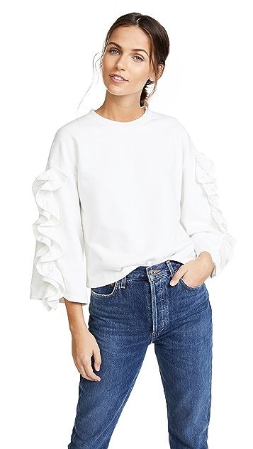 J.O.A. Ruffle Sweatshirt