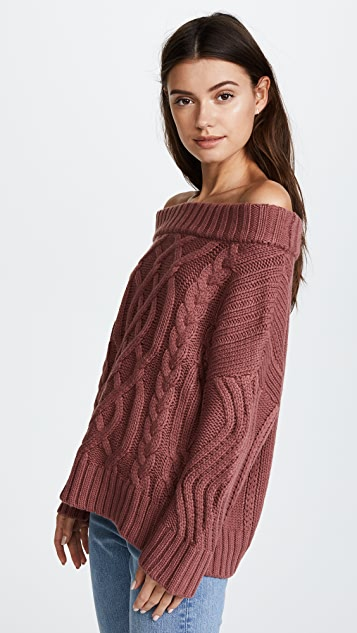 J.O.A. Off Shoulder Sweater