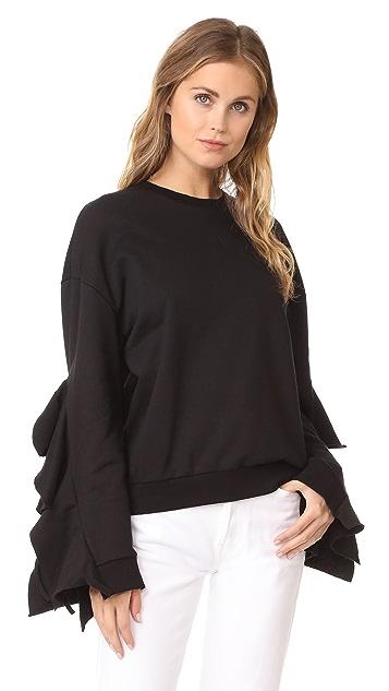 J.O.A. Cascade Sleeve Sweatshirt
