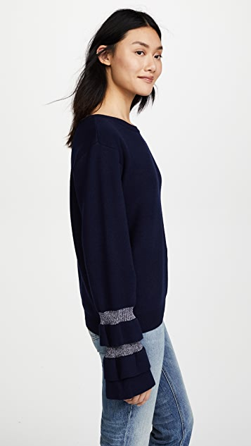 J.O.A. Ruffle Sleeve Sweater
