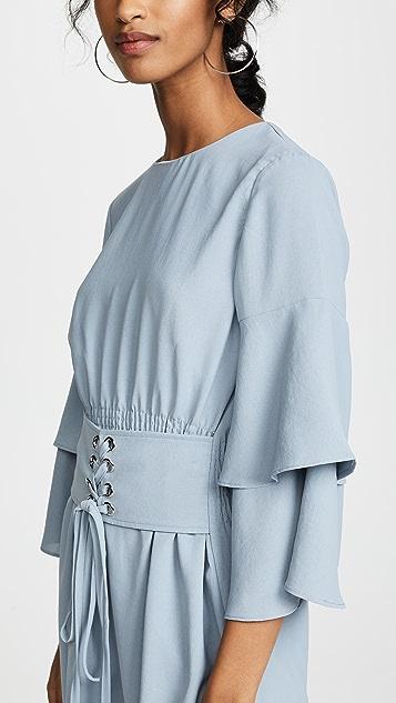 J.O.A. Corset Flounce Dress